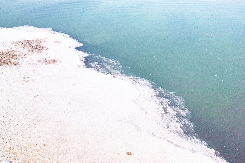The Scene Swimming In The Salt Lake Siwa Egypt The