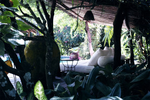 The scene: by the pool, Uxua casa, Trancoso, Brazil