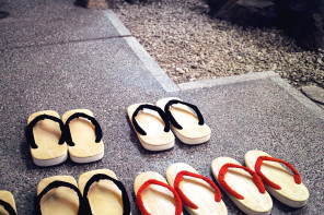 The object : sandals at Tsurugata, Kurashiki, Japan