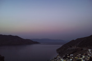 The view : sunset on Symi, Greece